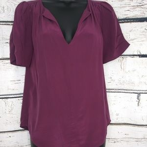 Joie Purple Silk Blouse. Small.